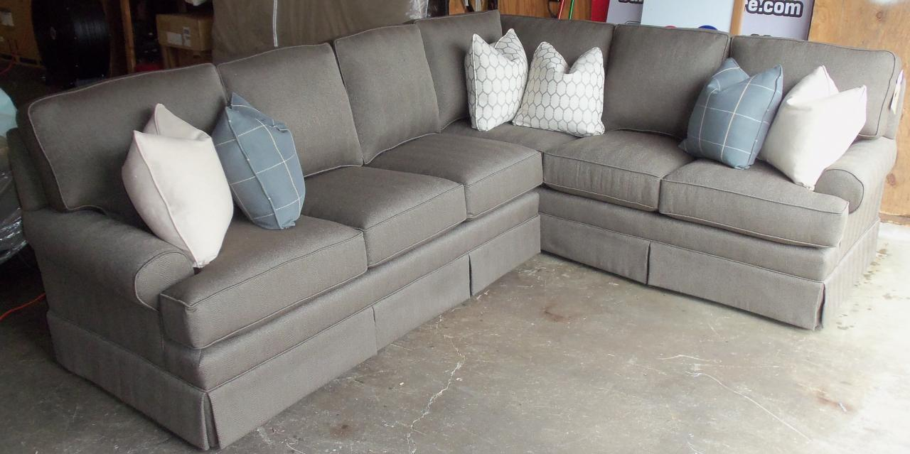 Click on the thumbnail to view the photos larger. : king hickory sectional - Sectionals, Sofas & Couches